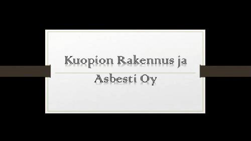 Kuopion Rakennus ja Asbesti Oy logo